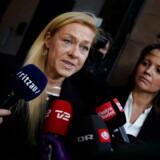 Anklagerne Lisbeth Jørgensen, til højre, og Kia Reumert, til venstre, efter domsafsigelse i Københavns Byret i Britta Nielsen-sagen, tirsdag den 18. februar 2020. (Foto: Liselotte Sabroe/Scanpix 2020)