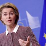 Ursula Von der Leyen til pressekonferencen i Bruxelles, hvor den store digitale plan blev annonceret.