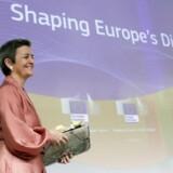 Margrethe Vestager, som ud over at være konkurrencekommissær er ansvarlig for den digitale udvikling i Europa, fremlagde onsdag EUs store masterplan for at give europæiske borgere og virksomheder bedre fremtidsmuligheder ved at bruge ny teknologi fornuftigt og kløgtigt.
