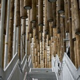 Trappen op gennem den hængende skov er en sanseudvidende oplevelse, Kraftværker er blevet en del af oplevelsesøkonomien her i København.