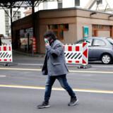 Hele Italien er nu lukket ned for at inddæmme smitten med coronavirus. Her et billede fra grænsen mellem Italien og Schweiz taget mandag 9. marts.