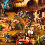 Albert Camus, Sofokles, Thomas Mann, Boccaccio og Hanne-Vibeke Holst kredser om de grundspørgsmål, som enhver bør stille sig selv. Spørgsmål om meningen med vores liv, forholdet til døden og hvordan vi ændrer os i mødet med skæbnens ugunst. Hieronymus Bosch (ca. 1450-1516) skildrede de fortabtes pinsler, inspireret af Den Sorte Død. Dette er et udsnit af altertavlen »Dommedag«.