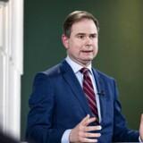Finansminister Nicolai Wammen (S) og skatteminister Morten Bødskov (S) præsenterer initiativer, der skal hjælpe dansk erhvervsliv og lønmodtagere som følge af covid-19. Her fra regeringens første hjælpepakke, der blev præsenteret tirsdag den 10. marts.