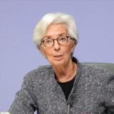 ECB-chefen Christine Lagarde understregede på et pressemøde, at regeringerne må træde i karakter og sørge for en »ambitiøs og koordineret indsats« for at afværge krisen i kølvandet på coronaudbruddet.
