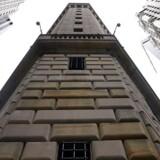 Den amerikanske forbundsbank (Fed) på Manhattan i New York greb søndag ind for at stabilisere økonomien oven på coronavirussen.