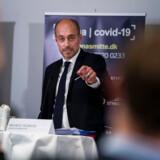 Sundheds- og ældreminister Magnus Heunicke fortæller om de prioriteringer i sundhedsvæsenet, der bliver nødvendige på grund af coronavirus i den kommende tid, på et pressemøde i Eigtveds Pakhus i København, fredag den 13. marts 2020.. (Foto: Martin Sylvest/Ritzau Scanpix)