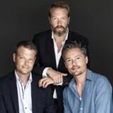 Jacob Weinreich (tv.), Anders Rønnow Klarlund (i midten) og Thomas Rydahl skriver under navnet Rydahl & Kazinski.