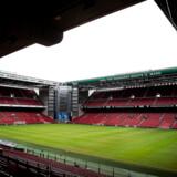 COVID-19: Parken i København ligger øde hen, tirsdag den 17. marts 2020. Uefa har besluttet at udsætte EM-slutrunden i fodbold til 2021. Parken må vente til sommeren 2021 med Danmarks EM kampe. . (Foto: Liselotte Sabroe/Ritzau Scanpix)