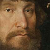 Christian II malet af Michel Sittow (1514-15). Man mener, at hans kommende hustru, Elisabeth, besad dette maleri før hendes ægteskab med den danske konge. Illustration fra bogen.
