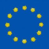 27. januar bragte Jyllands-Posten en tegning af det kinesiske flag med coronavirus-symboler i stedet for de gule stjerner. I dag ser det ud til, at Vesten kan blive ramt hårdere af virussen end Kina, og en ny følelse af underlegenhed breder sig, skriver Pierre Collignon. Illustration: Lars Andersen