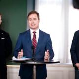 Finansminister Nicolai Wammen (S) holdt pressemøde om en økonomisk aftale med alle Folketingets partier torsdag.
