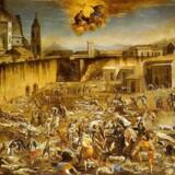 Den sorte død i 1348 slog omkring hvert tredje menneske i Europa ihjel - og rystede kontinentet i sin tro på Gud. Hvis Gud ikke kunne hjælpe - hvem så? Det blev begyndelsen på den moderne stat, og sådan går det med epidemier. Billedet er fra pestepidemierne i 1600-tallet, og kunstneren er Domenico Gargiulo. Foto: Wiki Commons.