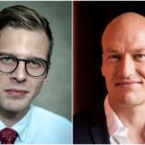 »Det er ikke Enhedslistens fortjeneste, at Danmark står et godt sted i dag,« siger Liberal Alliances Alex Vanopslagh. Men Enhedslistens Pelle Dragsted mener omvendt, at coronakrisen blotlægger, at Liberal Alliances hovedbudskab »ganske enkelt ikke holder«.