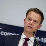 Udenrigsminister Jeppe Kofod orienterer om status på danskere i udlandet sammen med Ib Petersen, leder af Corona Task Force, Udenrigsministeriets Borgerservice, i Eigtveds Pakhus tirsdag den 24. marts 2020.