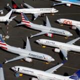 Omkring 400 fly af typen 737 Max står og venter på at kunne blive leveret fra Boeings fabrikker som følge af flyveforbuddet. Her er det på Boeings område i Seattle i det nordvestlige USA.