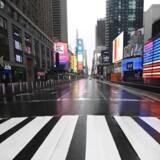 Som utallige andre normalt travle steder i verden ligger Times Square i New York næsten øde hen for tiden. Det dramatiske fald i menneskelig aktivitet kan tydeligt måles på jordskælvsmålere – seismografer.