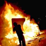 Uroligheder på Nørrebro i forbindelse med politiets rydning af Ungdomshuset i 2007. Foto: Brian Berg