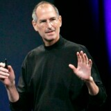 Apple-stifter Steve Jobs på scenen ved sidste års Macworld Expo i San Francisco. Foto: Robert Galbraith, Reuters/Scanpix