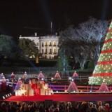 »Når jeg bliver præsident, så bliver det ændret. Stol på det. Så vil der overalt hænge skilte, der ønsker »glædelig jul« – i indkøbscentre og på offentlige gader og veje,« sagde Donald Trump på et møde i Washington D. C.