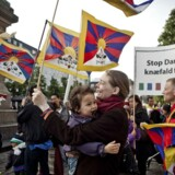 (ARKIV) Demonstration mod Kinas menneskerettighedsovertrædelser over for Tibet, Free Tibet, på Højbro Plads i København fredag d. 15. juni 2012 i forbindelse med den kinesiske præsident Hu Jintaos statsbesøg i Danmark.