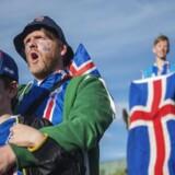 Island spillede søndag mod Frankrig og flere tusind mennesker mødtes på Arnarhóll i Reykjavik, for at se kampen på storskærm. Frankrig vandt 5-2