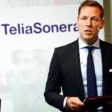 Telias topchef, Johan Dennelind, har mandag købt op i Norge for milliarder. Arkivfoto: Maja Suslin, AFP/TT/Scanpix