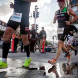 Omkring 3.000 personer deltager i KMD Ironman Copenhagen søndag den 24. august 2014.De skal svømme 3, 8 km i lagunen ved Amager Strand, cykle 180 km i Nordsjælland, hvorefter de slutter med et marathon i Københavns gader, der har mållinje ved Christiansborg.