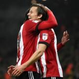 Lasse Vibe har fået gang i scoringerne i England. Tirsdag scorede han sit tredje mål i to kampe for Brentford.