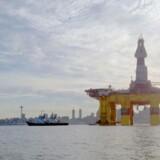 De ansatte i WWF Verdensnaturfonden investerer pensionspenge i en række af verdens største olieselskaber. Blandt andet Shell, hvis olieplatform ses her.