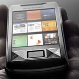 Her er Sony Ericssons kampvåben mod Apples iPhone: X1. Den styres via ni knapper på hovedskærmen.