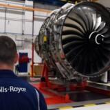 Arkivfoto. Det britiske selskab Rolls-Royce, der primært laver flymotorer, kom ud af 2016 med et gigantisk underskud som følge af store nedskrivninger.