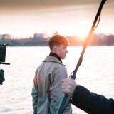 Foto fra optagelserne af den nye danske web-serie »Fastland«.