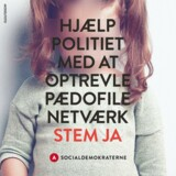 Et af billederne fra S's nye ja-kampagne