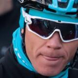 Chris Froome er indtil videre ikke suspenderet trods en verserende sag om mulig brug af doping. Reuters/Enrique Calvo