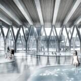 Arkitektfirmaet COBE har under overskriften »Københavns Haller« lavet en masterplan - de overordnede rammer - for Papirøen. I den indgår bl.a. et vandkulturhus, hvis udformning arkitekter i hele Europa nu får mulighed for at byde ind med forslag til.