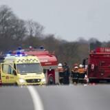 ARKIVFOTO. På hovedvej 11 ved Lyngs er der sket en trafikulykke, der har kostet en mand livet.