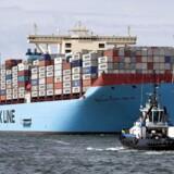 Arkivfoto: Et containerskib fra Mærsk er blevet tilbageholdt i New York efter mistanke om »trussel omborg«.