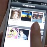 Den svenske musikstreamingtjeneste Spotify vil nu også ind på filmmarkedet. Arkivfoto: Jonathan Nackstrand, AFP/Scanpix