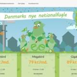 Danmarks nyeste mobilselskab, Tjeep, spiller både på udtalen af engelsk »cheap« (billig) og lyden af fugle - og derfor har mobilabonnementernes indhold også fået navn efter fuglens størrelse, som det kan ses på hjemmesiden hos selskabet.