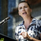 S-formand Mette Frederiksen under sin grundlovstale søndag på Rødding Højskole. Nu angribes hun af DSUs formand for sin nye, mere EU-forbeholdne linje.
