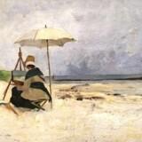 »Parasollen« – den svenske maler Emma Löwstädt-Chadwicks portræt af kunstnerkollegaen Amanda Carolina Vilhelmina Sidwall. Privateje.