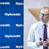 Michael Rasmussen, koncernchef i Nykredit fortæller om børsnoteringen på et pressemøde torsdag d. 4 februar 2016 i København. (Foto: Niels Ahlmann Olesen/Scanpix 2016)