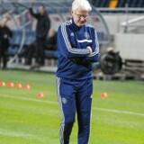 Morten Olsen før efterårets playoff-kampe mod Sverige til EM i Frankrig