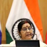 Indiens udenrigsminister, Sushma Swaraj, oplyser, at et Anglo-Eastern skib er forsvundet.