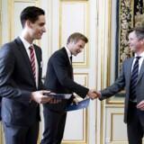 Her ses uddelingen af legater fra Crown Prince Frederik fund i 2014.