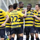Arkivfoto: Hobro IK er på vej tilbage i superligaen i fodbold, og hjælper samtidig ledige i arbejde.