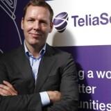 Telias topchef, Johan Dennelind, har masser af penge i kassen og vil gerne styrke Telia i Danmark gennem opkøb. Arkivfoto: Albert Gea, Reuters/Scanpix