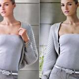 Modellen Valentina Zelyaeva er til venstre gjort tyndere, mens billedet til højre viser hende med de former, hun har. Billedet er fra Ralph Laurens hjemmeside.
