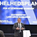 Statsminister Lars Løkke Rasmussen besøgte onsdag d. 31 august 2016 Savværket i Aarhus, hvor han fortalte om regeringens 2025 plan. Besøget er en del af en række borgermøder for at diskutere Danmarks fremtid og udfordringer. (Foto: Henning Bagger/Scanpix 2016)