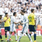 Jubel blandt FCK-spillerne på banen efter scoring. FCK og Brøndby mødes i parken til Pokalfinalen torsdag den 25. maj 2017.